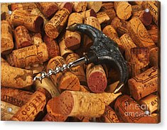 Lots Of Corks And A Cork Screw Acrylic Print by Stefano Senise