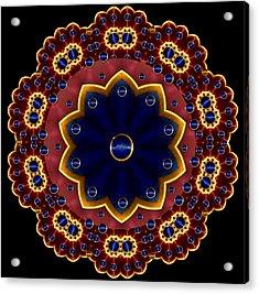 Lotus Bloom Acrylic Print by Pepita Selles