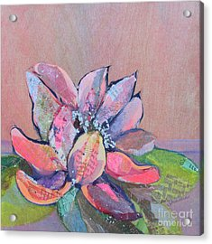 Lotus Iv Acrylic Print by Shadia Derbyshire
