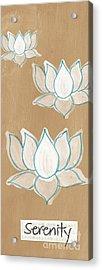 Lotus Serenity Acrylic Print by Linda Woods