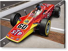 Lotus Stp Indy Turbine Acrylic Print by David Kyte