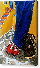 Louie Acrylic Print by Chris Eckley