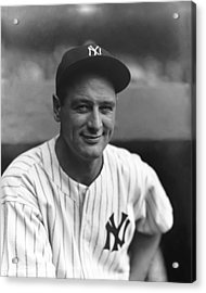 Lou Gehrig New York  Acrylic Print by Retro Images Archive