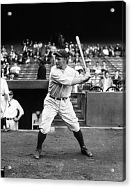 Lou Gehrig Stance Acrylic Print by Retro Images Archive