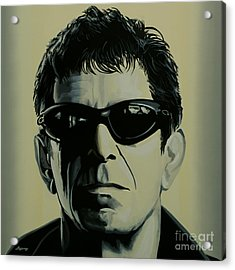Lou Reed Painting Acrylic Print by Paul Meijering