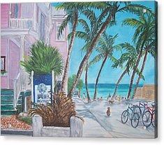 Louie's Backyard Acrylic Print by Linda Cabrera