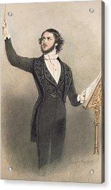 Louis Antoine Jullien Acrylic Print by Alfred-Edward Chalon