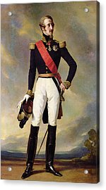 Louis-charles-philippe Of Orleans 1814-96 Duke Of Nemours, 1843 Oil On Canvas Acrylic Print by Franz Xaver Winterhalter