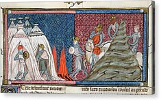 Louis Vii Reaches The Camp Acrylic Print by British Library