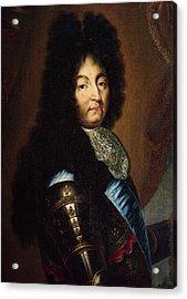 Louis Xiv 1638-1715 Oil On Canvas Acrylic Print by Hyacinthe Francois Rigaud