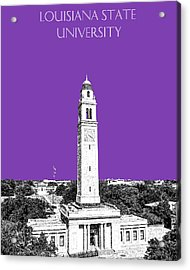 Louisiana State University - Memorial Tower - Purple Acrylic Print by DB Artist