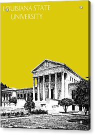 Louisiana State University 2 - Mustard Acrylic Print by DB Artist