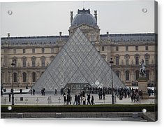 Louvre - Paris France - 011312 Acrylic Print by DC Photographer