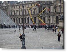 Louvre - Paris France - 01134 Acrylic Print by DC Photographer