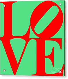 Love 20130707 Red Green Acrylic Print by Wingsdomain Art and Photography