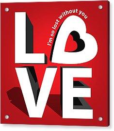 Love 3  Acrylic Print by Mark Ashkenazi