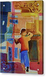 Love A Piano 1 Acrylic Print by Marilyn Jacobson