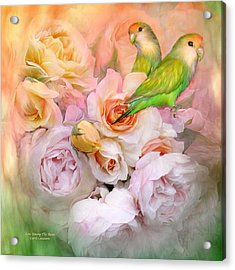 Love Among The Roses Acrylic Print by Carol Cavalaris
