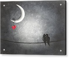 Love Birds Acrylic Print by Oddball Art Co by Lizzy Love