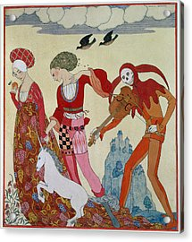 Love Desire And Death Acrylic Print by Georges Barbier