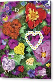 Love Flowers Garden Acrylic Print by Alixandra Mullins