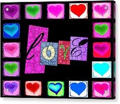 Love Hearts Acrylic Print by Cindy Edwards