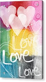 Love Hearts Acrylic Print by Linda Woods