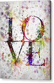 Love In Color Acrylic Print by Aged Pixel