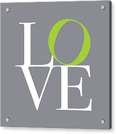 Love In Grey With A Lime Twist Acrylic Print by Michael Tompsett