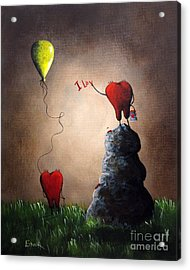 Love Is Playful By Shawna Erback Acrylic Print by Shawna Erback
