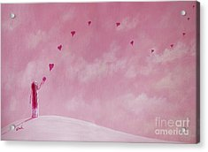 Love Is The Best Forever Gift Collection By Shawna Erback Acrylic Print by Shawna Erback