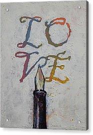 Love Acrylic Print by Michael Creese