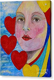 Love Me Do  Acrylic Print by Jane Chesnut