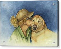 Love Me Love My Dog Acrylic Print by Nan Wright