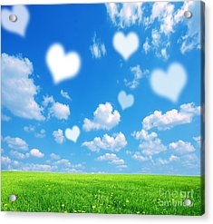Love Nature Background Acrylic Print by Michal Bednarek