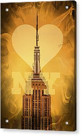 Love New York Acrylic Print by Az Jackson