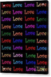 Love  Acrylic Print by Nikunj Vasoya