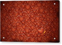Love Patches Acrylic Print by Gianfranco Weiss