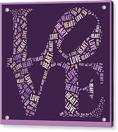 Love Quatro - Heart - S77a Acrylic Print by Variance Collections