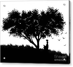 Love Stands Waiting Acrylic Print by Robert Foster