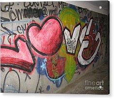 Love. Street Graffiti Acrylic Print by Ausra Huntington nee Paulauskaite