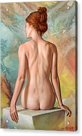Lovely Back-becca In Abstract Acrylic Print by Paul Krapf