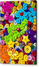 Lovely Buttons Acrylic Print by Garry Gay