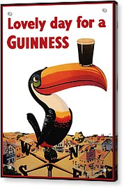 Lovely Day For A Guinness Acrylic Print by Nomad Art