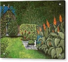 Lovely Green Acrylic Print by Anastasiya Malakhova