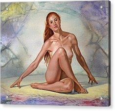 Lovely Lady Acrylic Print by Paul Krapf
