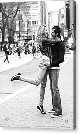 Lovers In The City Acrylic Print by Diane Diederich