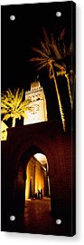 Low Angle View Of A Mosque Lit Acrylic Print by Panoramic Images