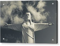 Low Angle View Of Statue Of Christ Acrylic Print by Panoramic Images