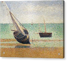 Low Tide At Grandcamp Acrylic Print by Georges Pierre Seurat